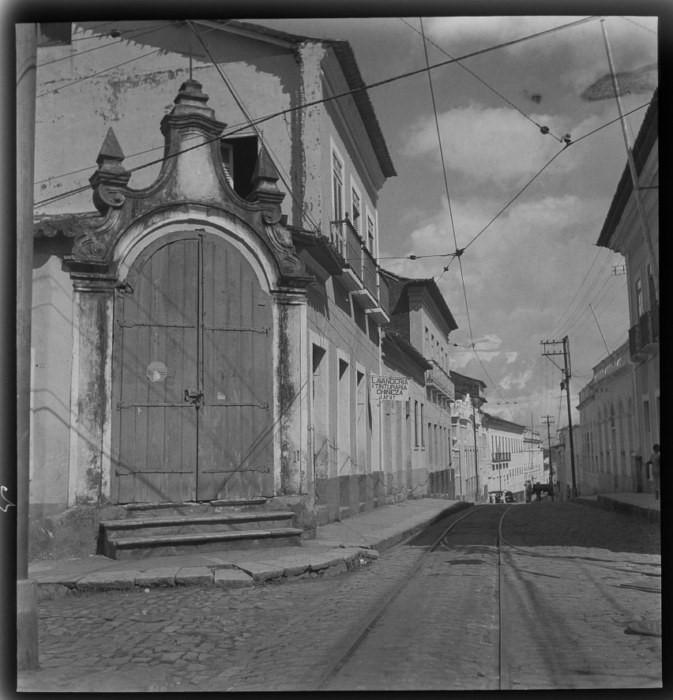Passo da Rua Afonso Pena, esquina da Rua Direita São Luis 1938