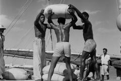 Descarregando barco no portinho