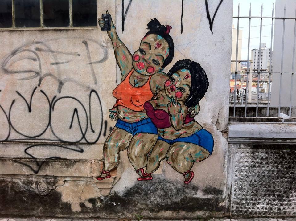 (Grafite) Negahamburguer Sorocaba, 2015.Fonte: Página da artista no Facebook.