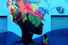 (Grafite) Cria Ancestral Criola Fonte: Perfil da artista no Facebook