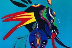 (Grafite) Cria Ancestral. Criola. Fonte: Perfil da artista no Facebook