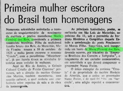 Primeira romancista Brasileira