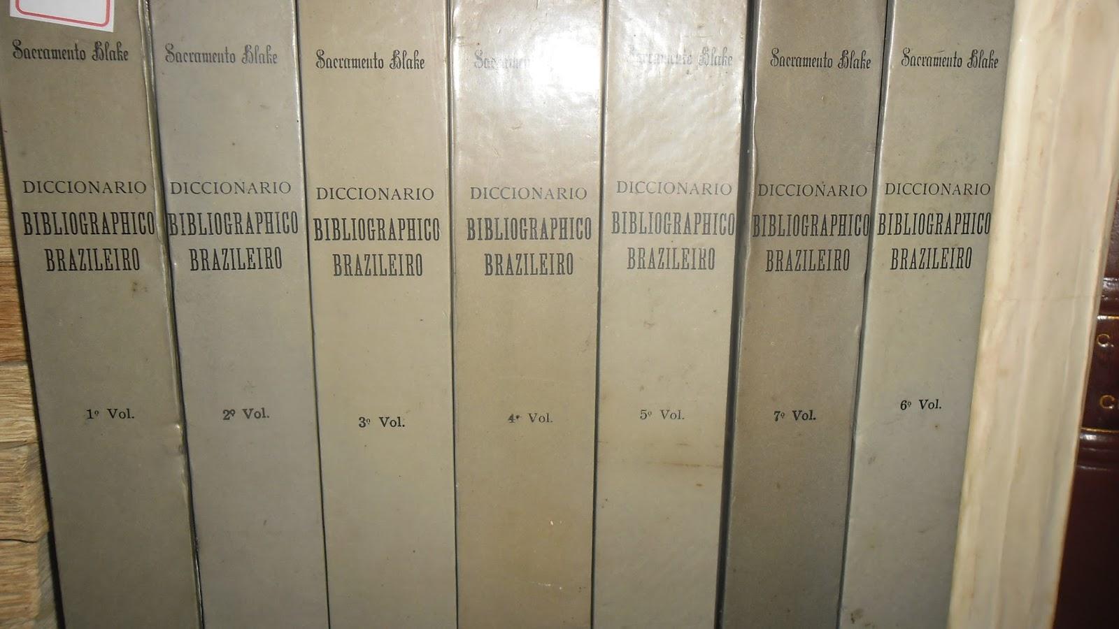 Diccionário bibliographico brazileiro. Edição Fac-símile.