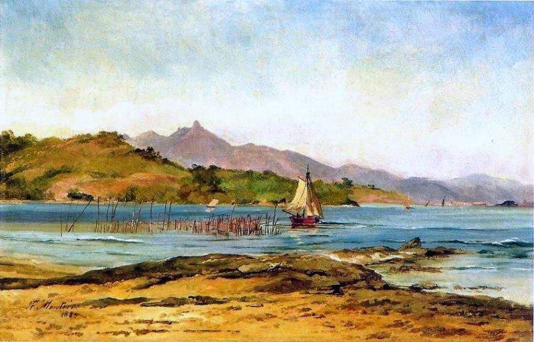 Antônio Firmino Monteiro. Paisagem (1885)