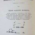 """Imagem da folha de rosto do livro Almanaque de Lembranças Brasileiras, no qual Firmina colaborou publicando dois poemas: """"Poema sem título"""", """"A Ventura""""; e duas """"Charadas""""."""