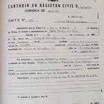 Imagem da Certidão de Óbito de Maria Firmina dos Reis, de 11/11/1917.
