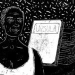 """Xilogravura (2017). """"Maria Firmina dos Reis"""". Pires, Gabriela. Fonte: ARRAES, Jarid. Heroínas negras brasileiras em 15 cordéis. (Ilustrações) Gabriela Pires. Editora Pólen, 2017."""
