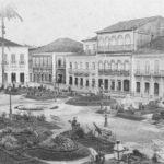 Foto (1908). Praça Benedito Leite. Cunha, Gaudêncio Rodrigues da. Fonte: Revista do Norte, via: Blog Iba Mendes: Fotos antigas de cidades do Maranhão.