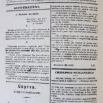 """Publicado inicialmente no jornal: """"O Jardim das Maranhenses – Periódico Semanário, Literário, Moral, Crítico e Recreativo"""" (Primeira versão - 13/10/1861 - ?/?/1862)."""