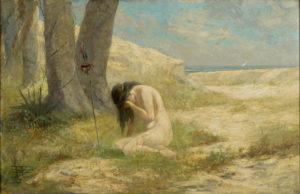 Antônio Parreiras. Iracema (1909) óleo sobre tela. 60.5x93x2 cm. MASP. Foto: João Musa