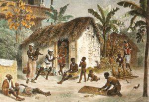 Johann Moritz Rugendas. Habitação de Negros (entre 1822 e 1825).