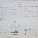 """Imagem de trecho manuscrito do texto """"Resumo da minha Vida"""", presente em Álbum (diário)."""