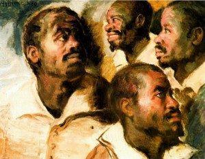 Artur Timóteo da Costa. Estudo de Cabeças (século XX -antes de 1922).Museu Afro Brasil (São Paulo).