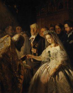 The Unequal Marriage. Vasily Pukirev (Tinta a óleo).1862–1862. Galeria Tretyakov.