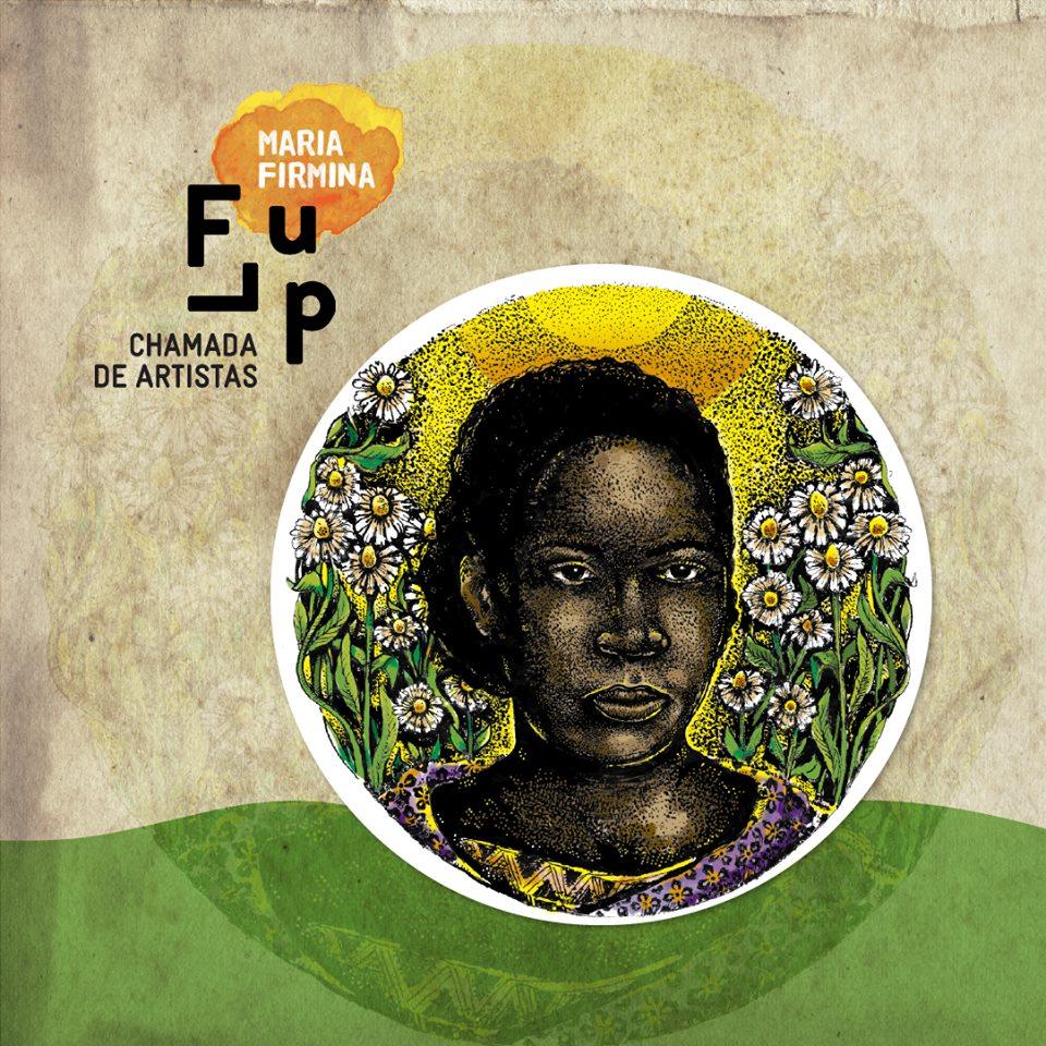 Rosto representativo de Maria Firmina para o concurso da Flup 2018. Ilustração de João Gabriel dos Santos Araújo, MG.