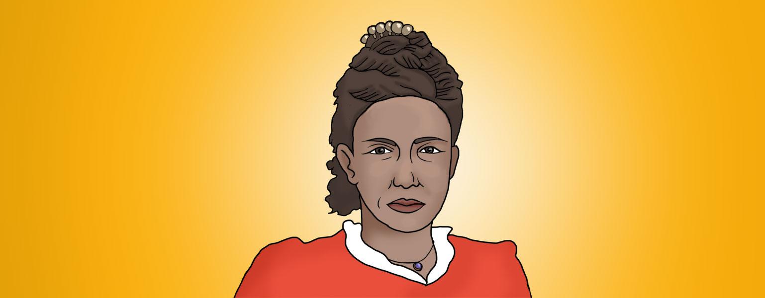 Ilustração de Maria Firmina apresentada pela Câmara dos Deputados, 2018.